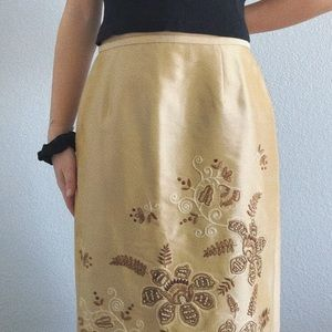 Gold Pencil Skirt NWT